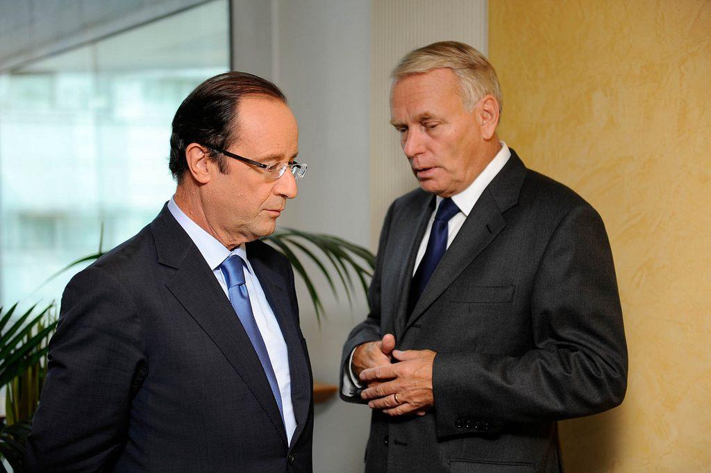 François Hollande et Jean-Marc Aynault