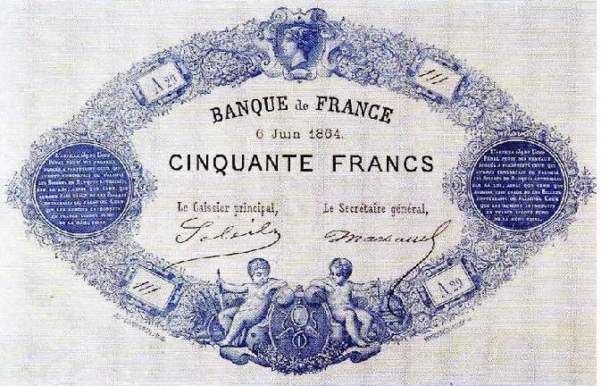 50 francs bleu