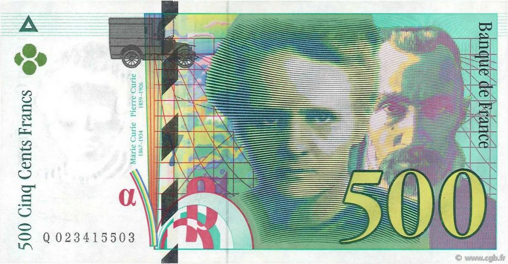 500 francs curie
