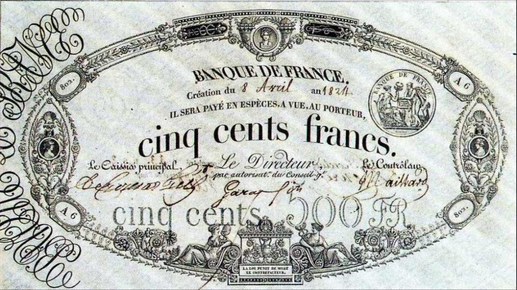 500 francs noir
