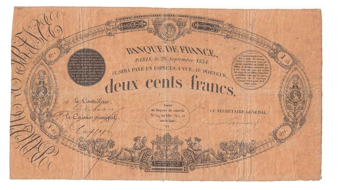 billet de 200 francs